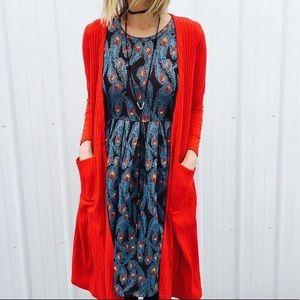 NWT Lularoe Red Sarah Cardigan/Duster❤️❤️❤️